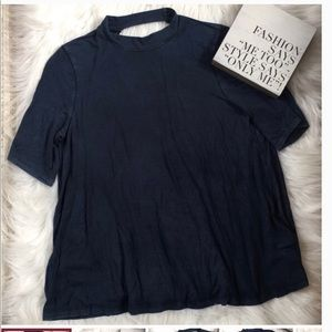 American Eagle high neck open back tee